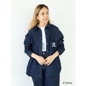Wポケットデニムシャツ/Mickey (インディゴ)