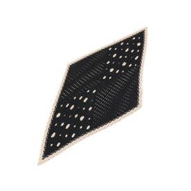 プリーツドットスカーフ (ブラック(119))