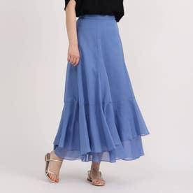 ブライトスパンボイルスカート (ライトブルー)