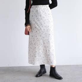 【手洗い可】フラワードットナロースカート (オフホワイト)
