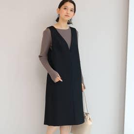 【WEB限定】basicジャンパードレス (ブラック)