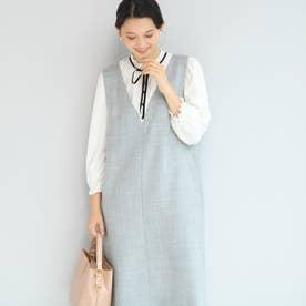 【WEB限定】basicジャンパードレス (グレー)
