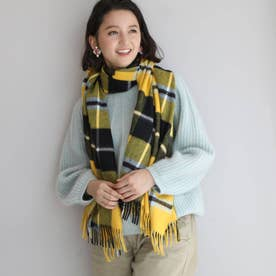 Traditional Weatherwear チェック柄ストール (レモンイエロー)
