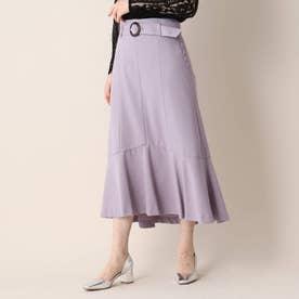 ハイツイストドライツイル裾切替フレアスカート (ライトパープル)