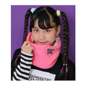2WAYハートメッセージスヌード (ピンク(008))