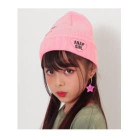 ハート刺繍入ニット帽 (ピンク(008))