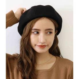 CHILLE 厚手ツイル地ベレー帽(ブラック)
