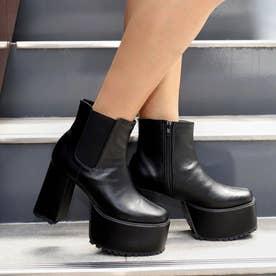 サイドゴア厚底ブーツ(ブラック)