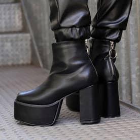 バックジップ厚底ブーツ(ブラック)