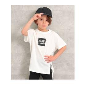 フロントスリットビッグTシャツ (ホワイト(001))