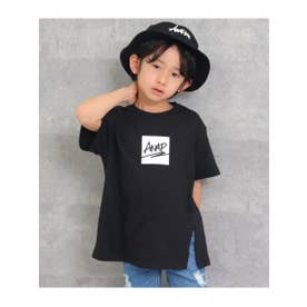 フロントスリットビッグTシャツ (ブラック(027))