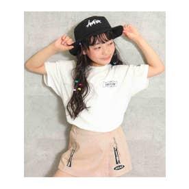 ネックダメージ両面プリントTシャツ (ホワイト(001))