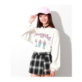 【GIRL】パフェプリントボリューム袖BIG (ホワイト(001))
