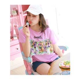 【ANAPGiRL】フルーツ柄フリル付Tシャツ (ピンク(008))