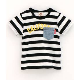 【KIDS】 CALIFORNIAロゴデニムポケットTシャツ (ホワイト/ブラック(058))