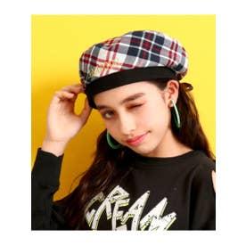 【GIRL】後ろリボンベレー帽 (ブルー(019))