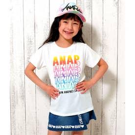 【ANAPKIDS】グラデーションプリントTシャツ (ホワイト(001))