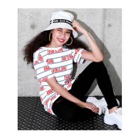 【GiRL】 総ロゴBIGTシャツ (ホワイト(001))