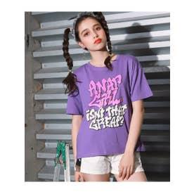 【ANAPGiRL】グラフィティロゴTシャツ (パープル(022))