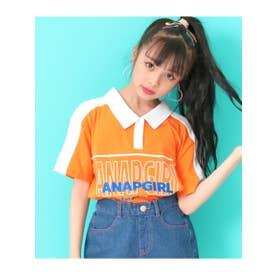 【ANAPGiRL】衿付配色チュニック (オレンジ(011))