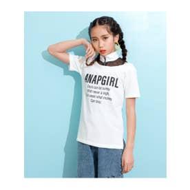 【GiRL】 メッシュ切替肩開きチュニック (ホワイト(001))