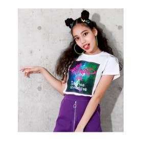 【ANAPGiRL】宇宙柄BOXプリントTシャツ (ホワイト(001))