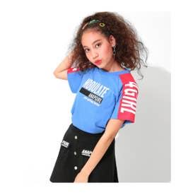 【ANAPGiRL】袖配色ロゴTシャツ (ブルー(019))