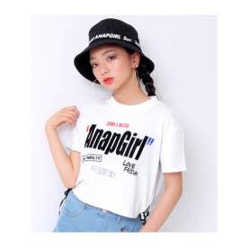 【ANAPGiRL】裾ロゴテープトップス (ホワイト(001))