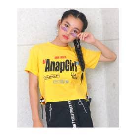 【ANAPGiRL】裾ロゴテープトップス (イエロー(024))