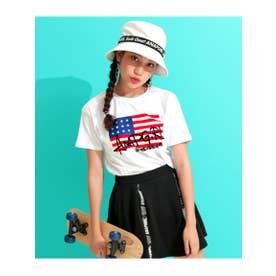 【ANAPGiRL】アメリカストリートロゴTシャツ (ホワイト(001))