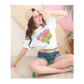 【ANAPGiRL】ヤシプリントTシャツ (ホワイト(001))
