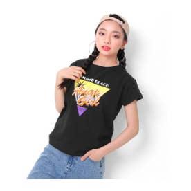【ANAPGiRL】ヤシプリントTシャツ (ブラック(027))