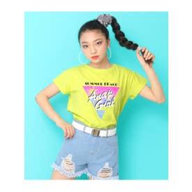 【ANAPGiRL】ヤシプリントTシャツ (ライム(083))