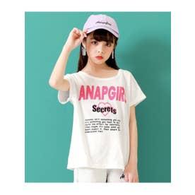 【ANAPGiRL】ハートアキTOPS×ロゴキャミSET (ホワイト(001))