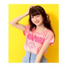 【ANAPGiRL】ハートアキTOPS×ロゴキャミSET (ピンク(008))
