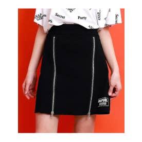 【GiRL】 ファスナーボックスプリーツスカート (ブラック(027))
