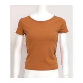 BACKクロスタイトTシャツ ブラウン