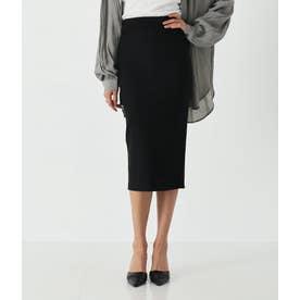 バックスリットシンプルタイトスカート(ブラック)