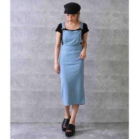 カットリブジャンパースカート(ブルー)