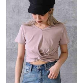 フロントツイストTシャツ(モカ)
