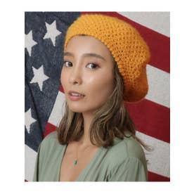 ニットベレー帽 (マスタード(044))
