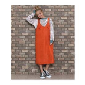カラージャンパースカート (オレンジ(011))