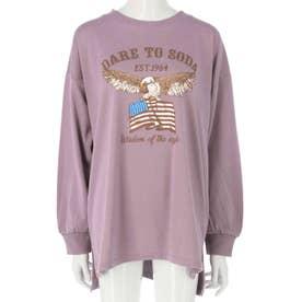 イーグルプリントロングTシャツ (パープル(022))