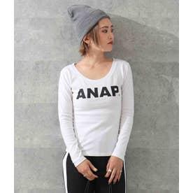 ANAPロゴフィットロングTシャツ(ホワイト)