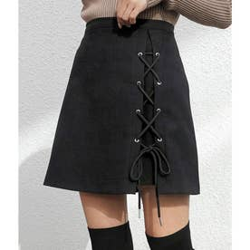 フロントレースアップスカート(ブラック)