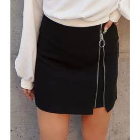 リングジップミニスカート(ブラック)