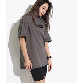 ユニセックスヘビーウェイトボックスロゴ刺繍Tシャツ(アッシュブラック)