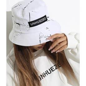 ユニセックスハンドライティングバケットハット(ホワイト)