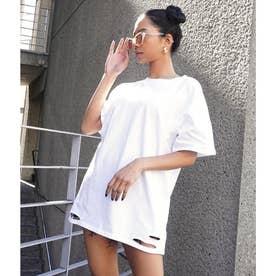 ダメージTシャツ(ホワイト)