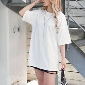 サイドスリットオーバーサイズTシャツ(ホワイト)